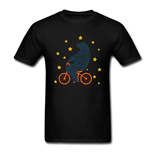ZZCZHU Bear On Bike Everything Is Life
