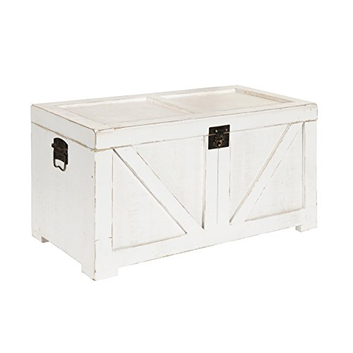Kate and Laurel 213061 Cates Farmhouse Decorative Wood Trunk 14x27.5x14 ()