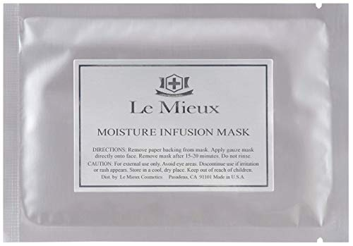 Le Mieux Moisture Infusion Mask - Hydrating Face Mask with Peptides, Vitamin C + Marine Collagen (4 Masks)