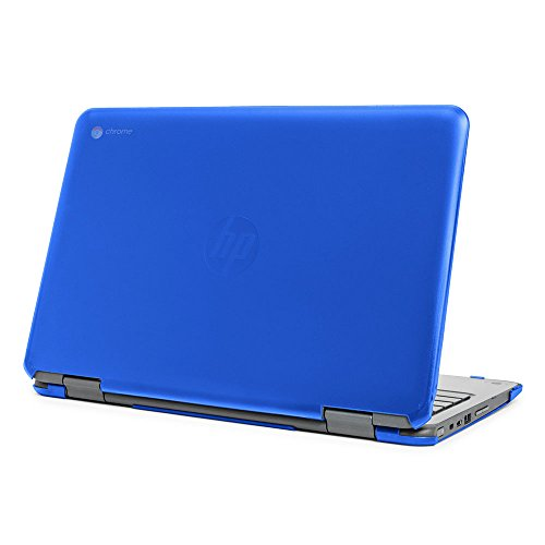 mCover Hard Shell Case for 11.6 HP Chromebook X360 11 G1 EE laptops (NOT Compatible with HP C11 G4EE / G5EE / G6EE) (HP CX360 11 G1EE Blue)