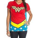 Miracle Mugs Wonder Woman Logo Caped T-Shirt - Wonder Woman Suit Up Women's Caped T-Shirt