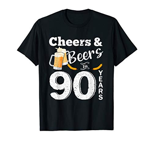 Cheers And Beers To 90 Years T Shirt
