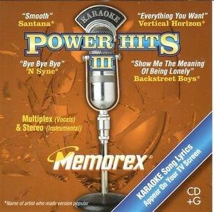 Karaoke Multiplex - Power Hits I Memorex CD + G Karaoke (Stereo - Instrumentals Only and Multiplex - Vocals)