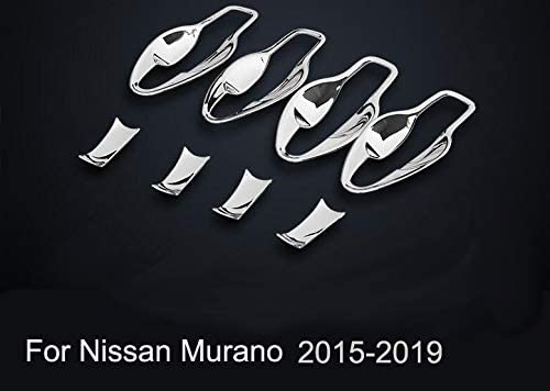 Momoap 8pcs Chrome Mirror Side Exterior Door Handles Bowl Cup Cover for Nissan Murano 2015-2020