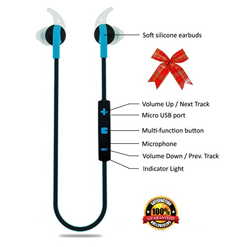 Bluetooth Headphones Wireless In-Ear Sweatproof Earbuds with Microphone for Phone...