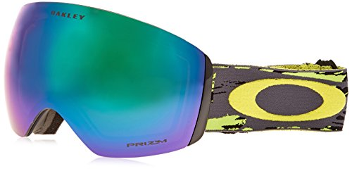 Oakley OO7050-09 Flight Deck Eyewear, Slasher Green Gunmetal, Prizm Jade Iridium Lens (Flight Deck Helmet)