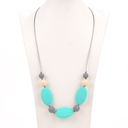 Silicone Teething Necklace BPA Free Multi color