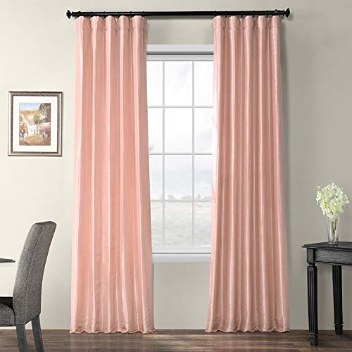 - HPD Half Price Drapes PTCH-BO180301-96 Blackout Faux Silk Taffeta Curtain, 50 x 96, Salmon Rose