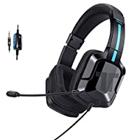 TRITTON Kama Plus Stereo Gaming Headset for PC, PS4, Xbox One, Noise Cancelling Over Ear Headphone with Mic, Soft Memory Earmuffs for Mac, Laptop, Nintendo Switch Games