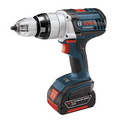 Factory-Reconditioned Bosch HDH181-01-RT 18V Cordless Lithium-Ion Brute Tough 1/2 in. Hammer Drill Driver with 2 Fat Pac