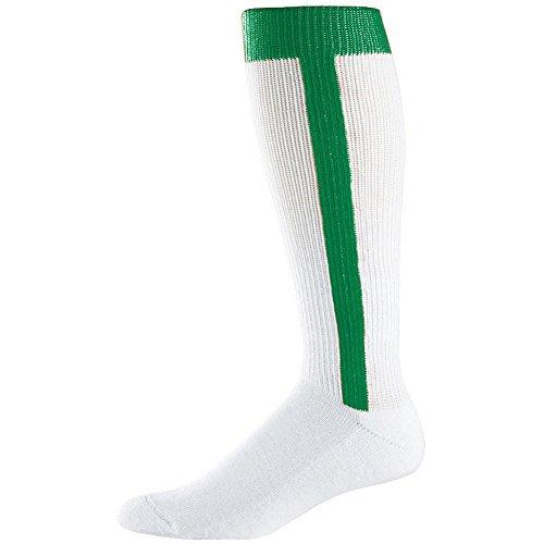 Augusta Intermediate Two-In-One Baseball Sock (Kelly, Medium (9-11)) by Augusta