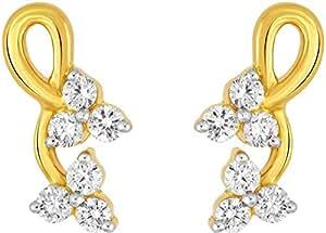 SKY EVERYDAY DIAMONDS .18K Yellow Gold Diamond Earring