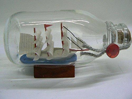 Nave bottiglia ca. 11x5x6cm Fock Nave in bottiglia artigianale (una diversa dall'altra) prodigital
