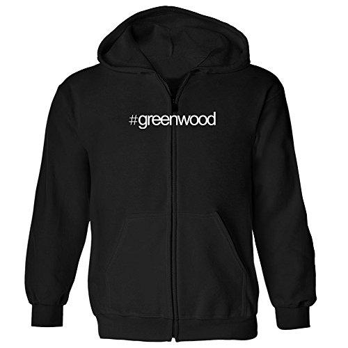 Idakoos - Hashtag Greenwood - US Cities - Zip Hoodie (Zip Greenwood City)