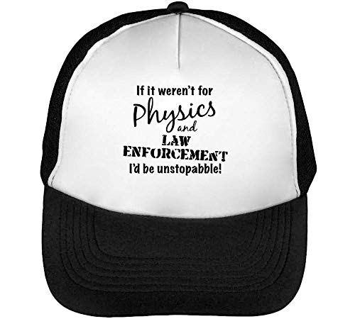 Physics Snapback Enforcement Negro Hombre Beisbol Blanco Law Gorras qrRnqwW4F