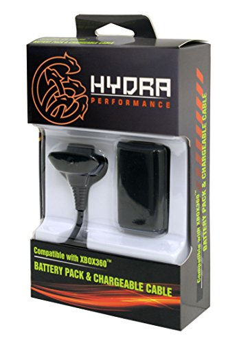 Hydra Performance® Xbox 360 Battery Pack and Charge Kit Black