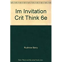 Instructors Manual Invitation to Critical Thinking