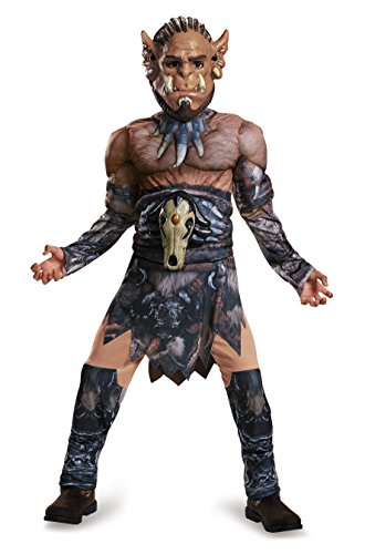 War Of The Monsters Costumes (Durotan Classic Muscle Warcraft Legendary Costume, Small/4-6)