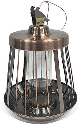 バードフィーダー 金属めっきバードフィーダーアンチリス鍛造アイアンアイアンハードウェア製品 屋外デザイン (Color : Multi-colored, Size : Free size)