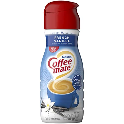 Coffee Mate Liquid, French Vanilla, 16-Ounce (Pack of 6)