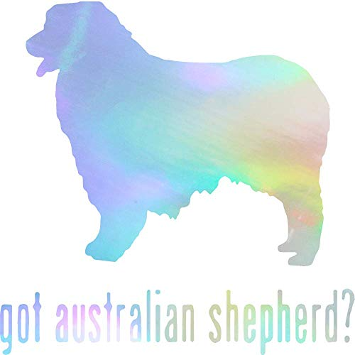 (ANGDEST Animal GOT Australian Shepherd Dog (Hologram) (Set of 2) Premium Waterproof Vinyl Decal Stickers for Laptop Phone Accessory Helmet Car Window Bumper Mug Tuber Cup Door Wall Decoration)