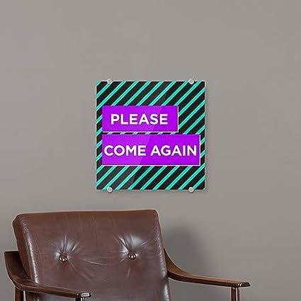 CGSignLab Please Come Again 16x16 Modern Block Premium Acrylic Sign