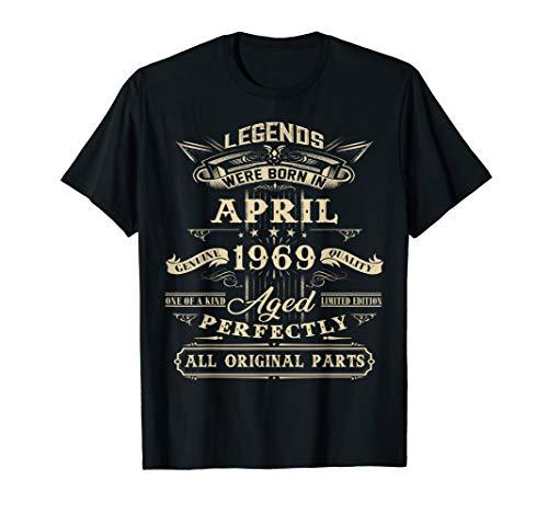 Legends Born April 1969 Vintage 50th Birthday Shirt Gift
