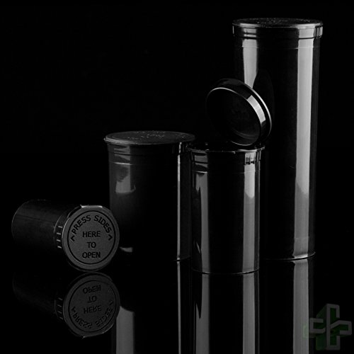 Black Pop Top Bottles and Vials - 30 Dram/7 Grams per Bottle (160 Bottles) by Verified Exchange