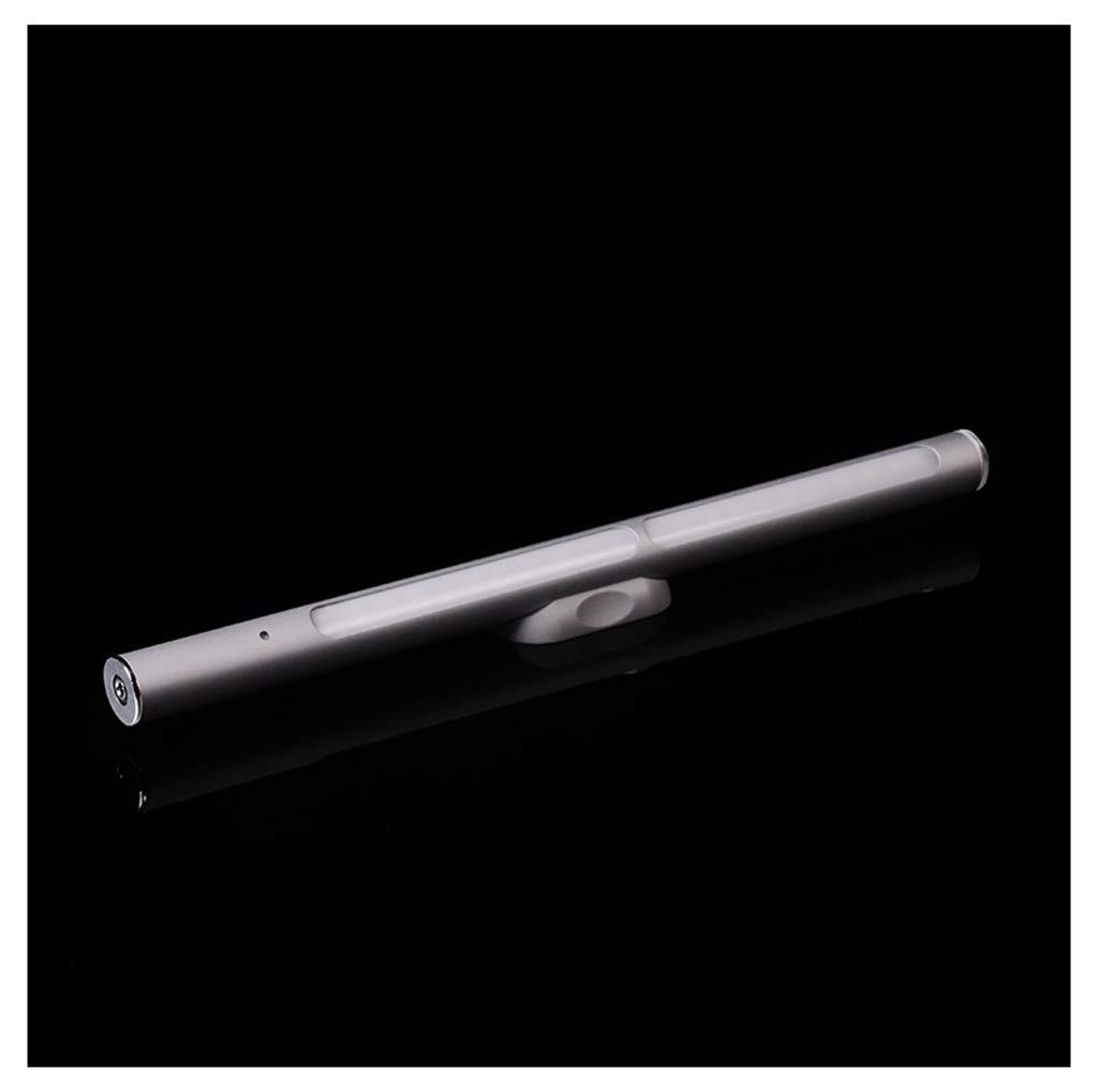 Silber THOR-BEI Nachtlicht LED Spiegel Scheinwerfer Schlafzimmer Schminktisch Lampe Touch Dimmen Schlafzimmer Lampe Aluminiumrohr Beleuchtung Spiegel Licht -744Spiegellampen (Farbe   Silber)