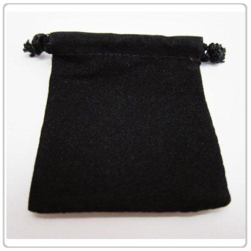 25x Black Velvet/Velour Jewelry Gift Pouch 3x4 inch (Velour Gift)