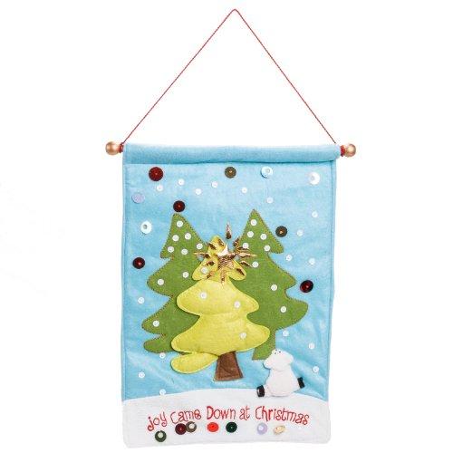 Joy Came Down at Christmas Holiday Felt Banner Decoration