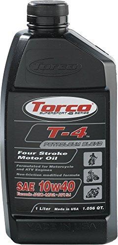 Torco T611040CE T-4 10w40 4-Stroke Motor Oil Bottle - 1 Liter Bottle
