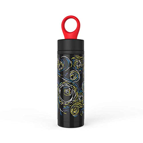 Sports Water Bottle - Vacuum Insulated Stainless Steel, Hot & Cold, Wide Mouth, Double Walled, Simple Thermo Modern Travel Mug, Hydro Metal Canteen R-87 (A)