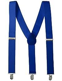 Party Perfect Team Spirit - Tirantes de poliéster para adulto, color azul, Azul, 1 pieza, 1