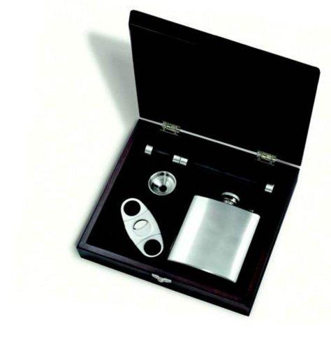 Franmara Flask and Cigar Gift Set