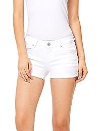 Women's Juniors Perfect Fit Mid-Rise Denim Shorts
