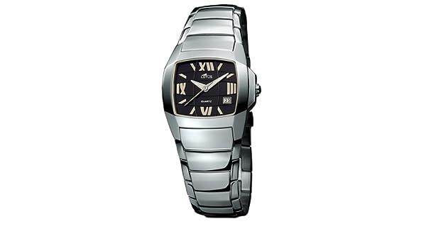 5ab8209a8047 Lotus 15316-5 - Reloj de mujer de cuarzo con correa de acero inoxidable  plateada  Amazon.es  Relojes
