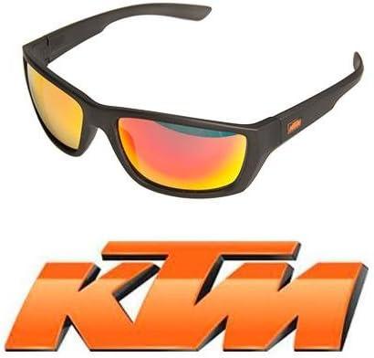 Gafas bicicleta para Ciclismo KTM polarizadas Mod.FACTORY de policarbonato color negro con lentes naranjas Espejo