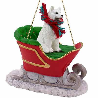 (Conversation Concepts Samoyed Sleigh Ride Christmas Ornament - Delightful!)