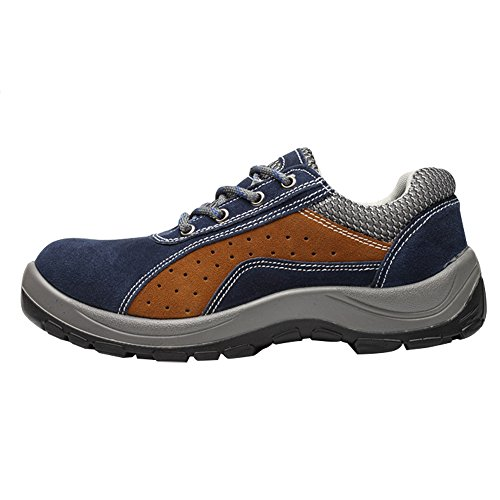 Shoes Blue Work Shoes Brown Optimal Men's Safety Shoes Toe Steel Comp zqxA8nt