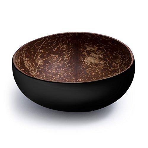 Cocobowl Pure - Kokosnuss Schale / Dekoschale (schwarz)