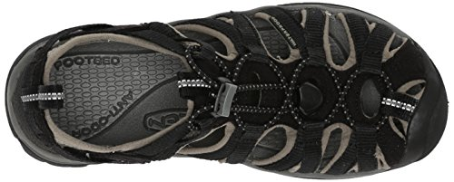 Keen WHISPER W-NEUTRAL GRAY/BRIGHT CHARTREUSE 1008452 - Sandalias para mujer Negro