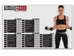 Circuit Burnout 90: 90 Day DVD Workout Program with 10+1 Exercise Videos + Training Calendar, Fitness Tracker &Training Guide and Nutrition Plan 7