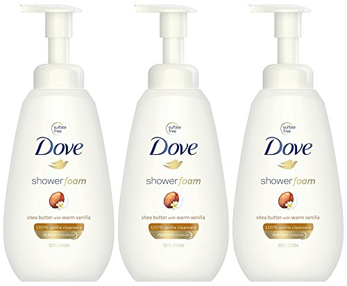 - Dove Shower Foam Shea Butter with Warm Vanilla Foaming Body Wash, 13.5 Ounce (Pack of 3)