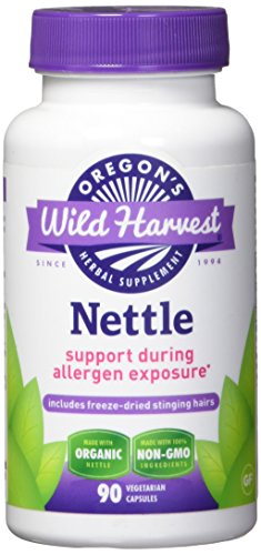 Nettles Freeze Dried - Support During Allergen Exposure, 90 Vcaps,(Oregon's Wild Harvest) (Nettle Freeze Dried Leaf)