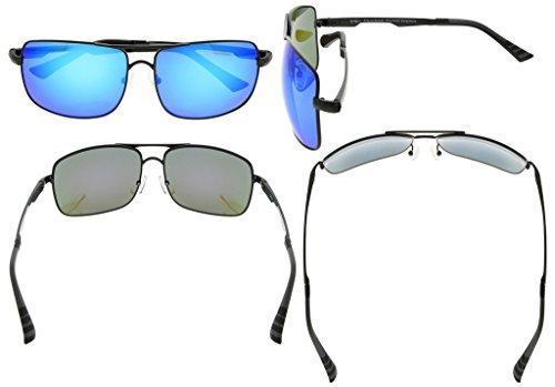 Eyekepper Lunettes de soleil Polycarbonate verres Polarisees lunettes soleil pour hommes noir/bleu verre