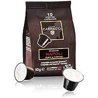 Caffè Carracci, Capsule Compatibili Nespresso, Intensità 10 - 100 Capsule