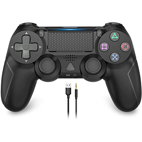 Game Controller for PS4, YCCSKY 1000mAh Wireless Controller for PS4 / PS4 Slim / PS4 Pro Console with Share Button / Ergonomic Design / Vibration Function (Black)