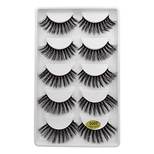 Wenini False Eyelashes, 2019 New Luxury 7 Pairs 3D False Lashes Fluffy Strip Eyelashes Long Natural Party Makeup Lashes G605