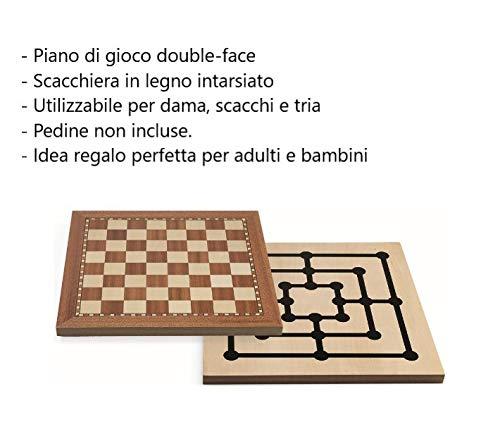 Juego JU00404 Tria Schachspiel Damespiel 30 x 30 cm Mehrfarbig Gesellschaftsspiele